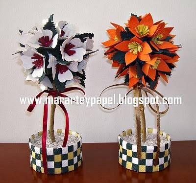 Arreglos Con Flores En Papel Cómo Hacer Arreglos