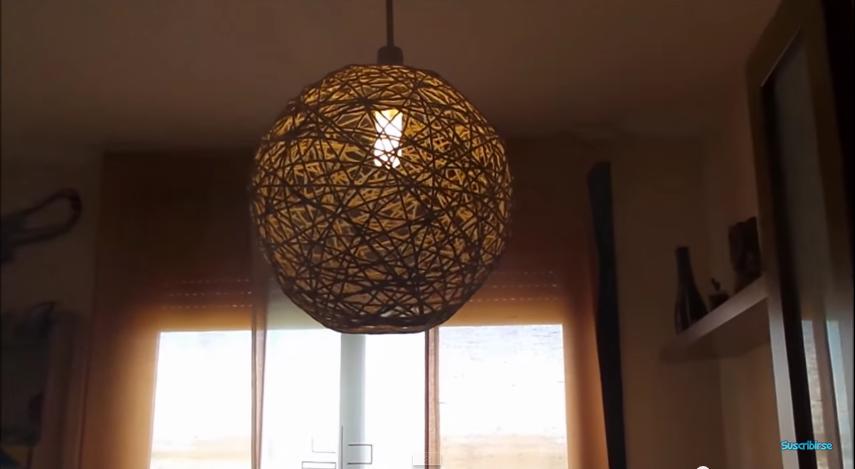 Cómo Hacer Una Lámpara Colgante Casera Con Material