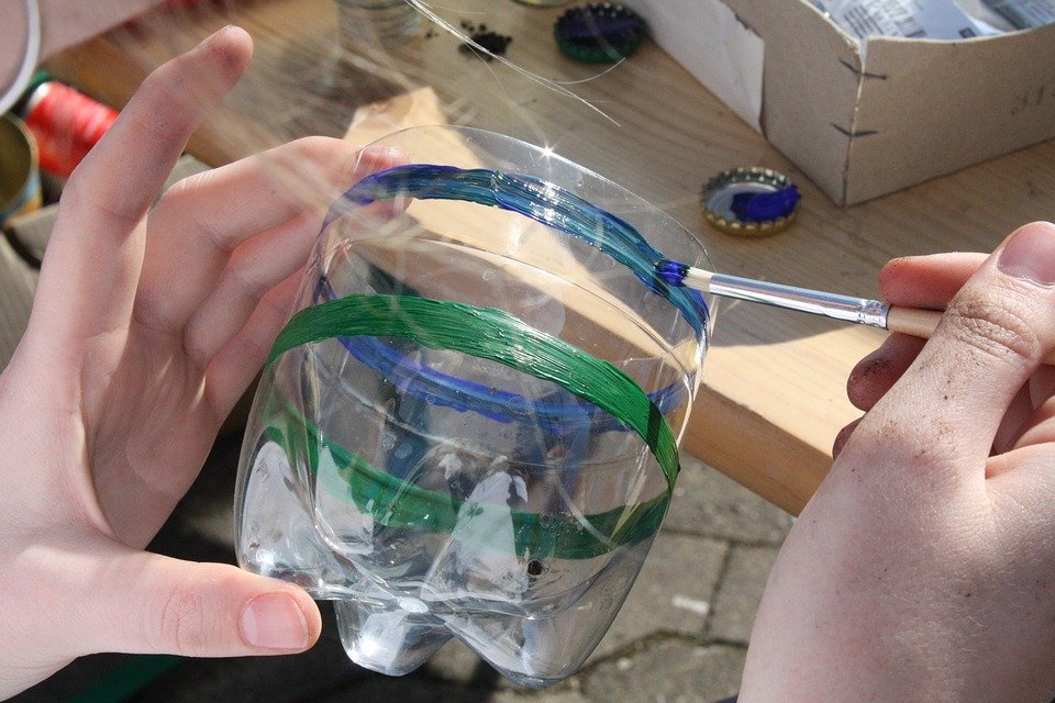 Macetas De Botellas De Plástico Decoradas Para Niños Muy