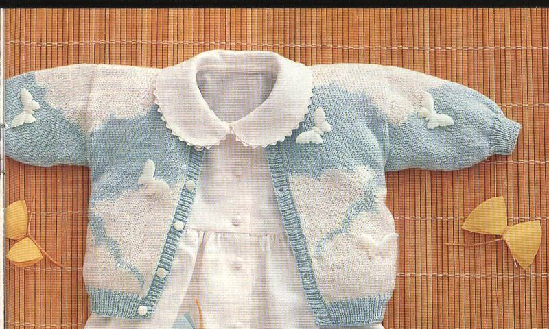 3f988333b Patrones para tejer ropa de bebés :: Patrones de tejido a dos agujas ...