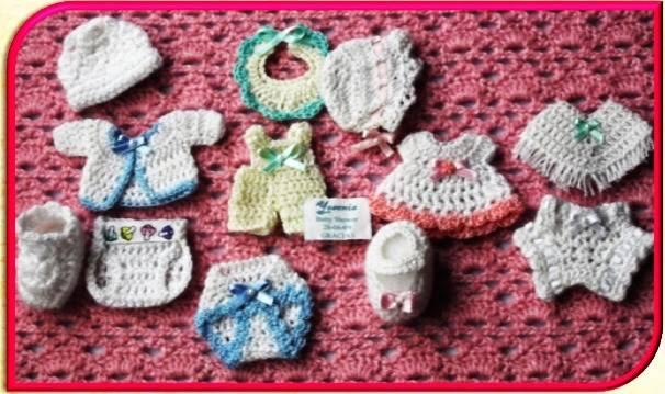 Modelos De Souvenir Para Bautismo.6 Recuerdos Para Bautizos Tejidos A Crochet De La Mano De