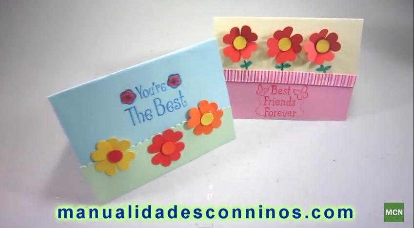 Cómo Hacer Tarjetas Fáciles Y Rápidas De Felicitaciones Con Flores