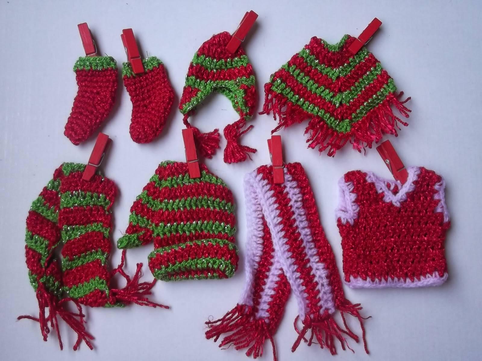 Como tejer a crochet adornos navidenos